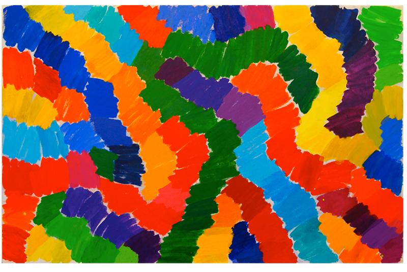 """""""Colour Ways"""" 2014, acrylic on canvas: 169cm x 265cm"""