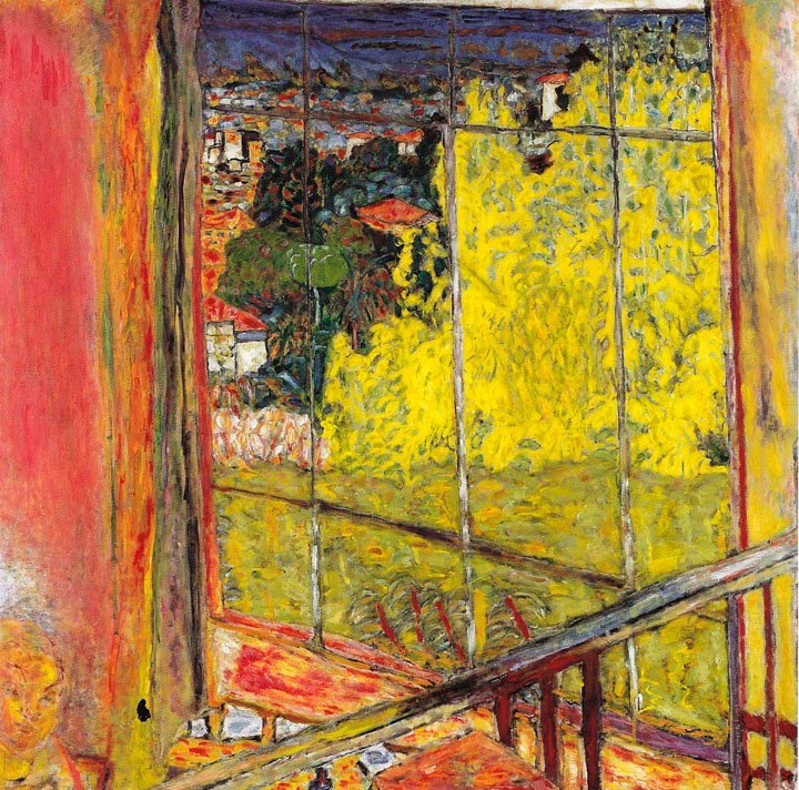 "Bonnard: ""Studio with Mimosa: 1939: oil on canvas 127.5 cm square - MAM Paris"