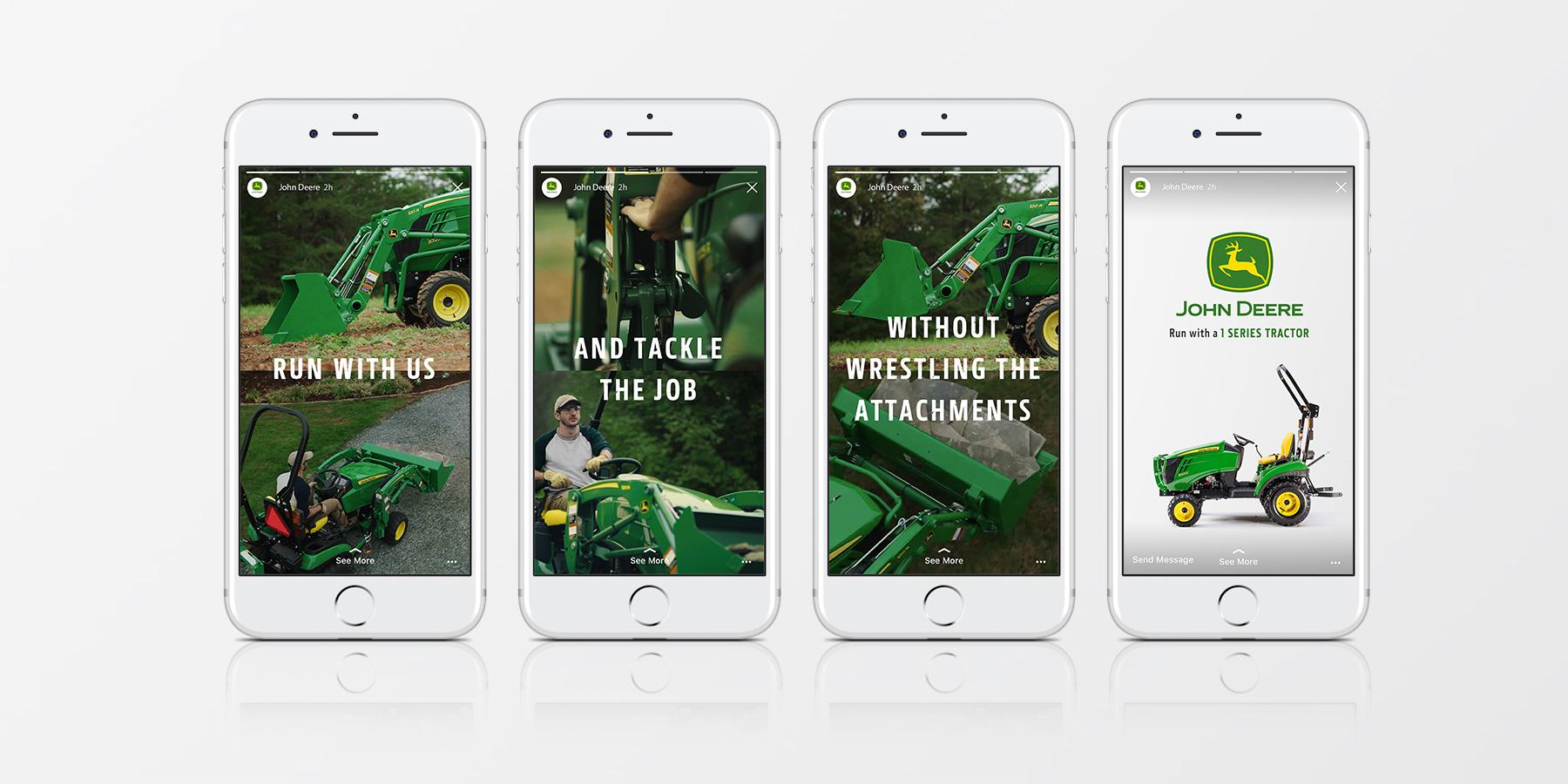 Instagram Story highlighting 1 Series Tractors.