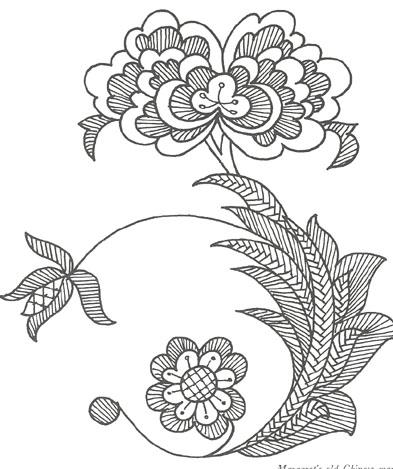 Chinese Mandarin Rose Pattern.