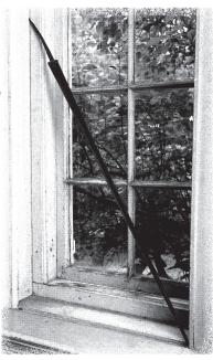 Moses Porter's sword as seen in the Northeast Bedroom.