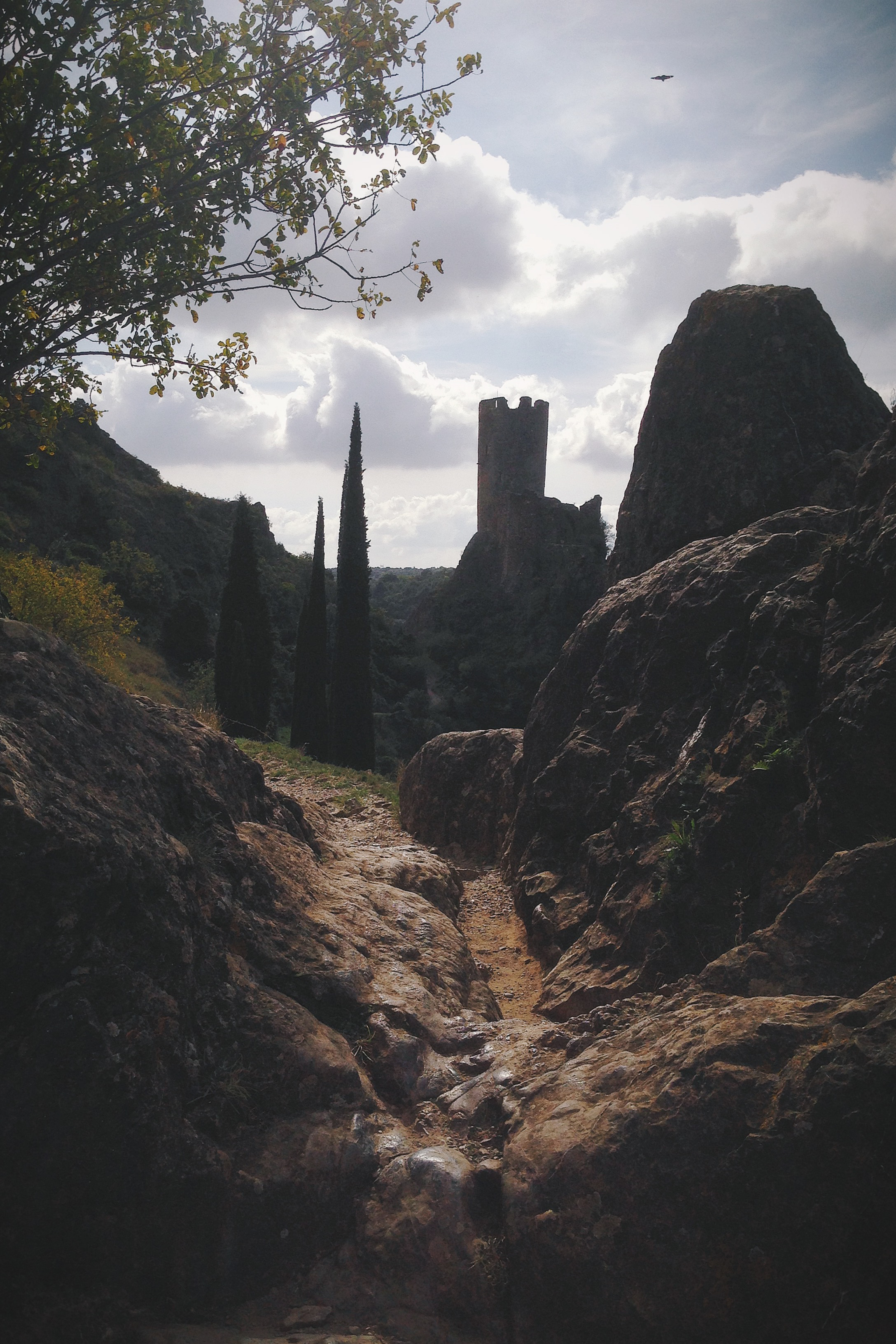 Rocks and ruins. Lastours
