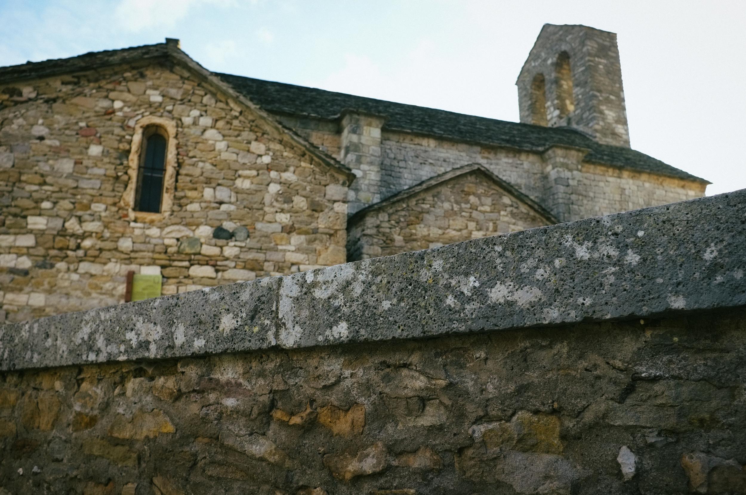 Church wall. Minerve