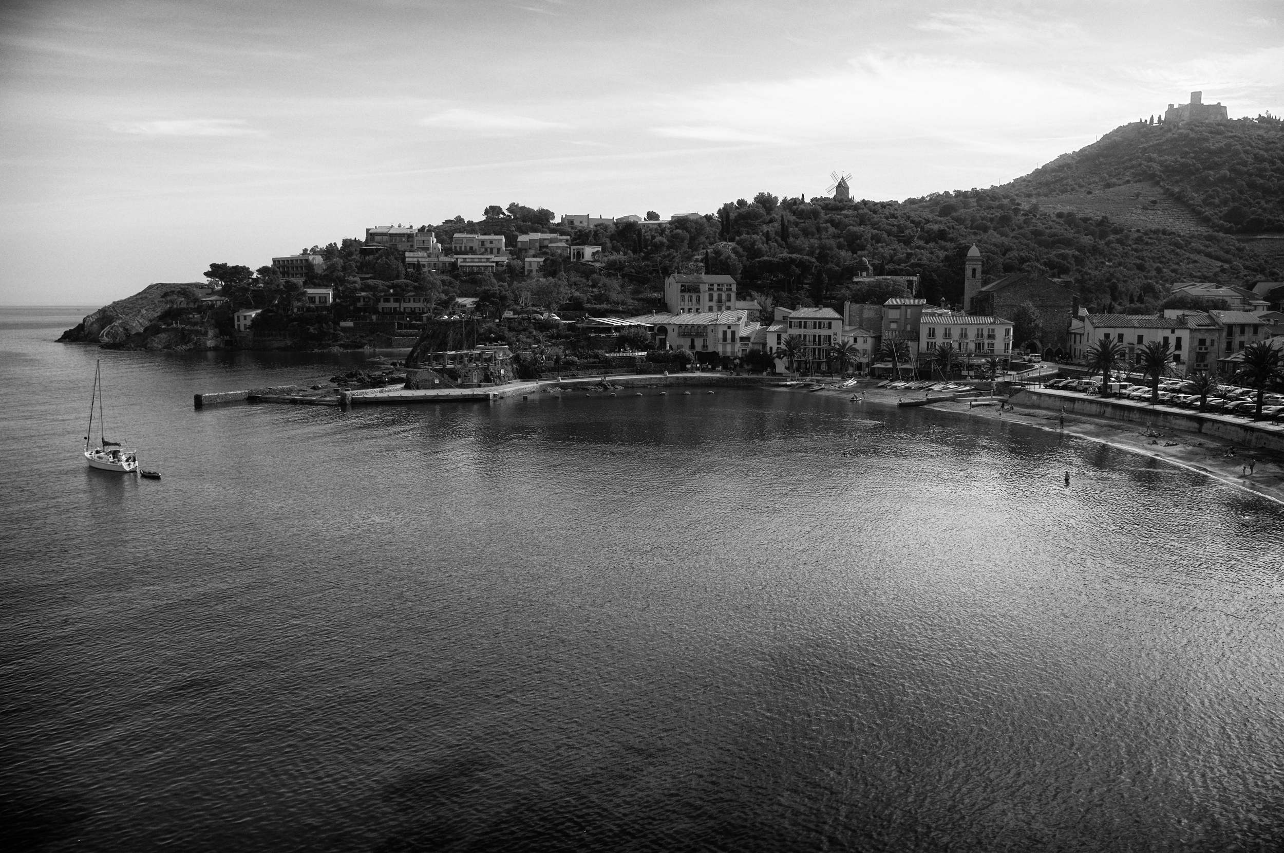 View from the top of the fortress. Collioure