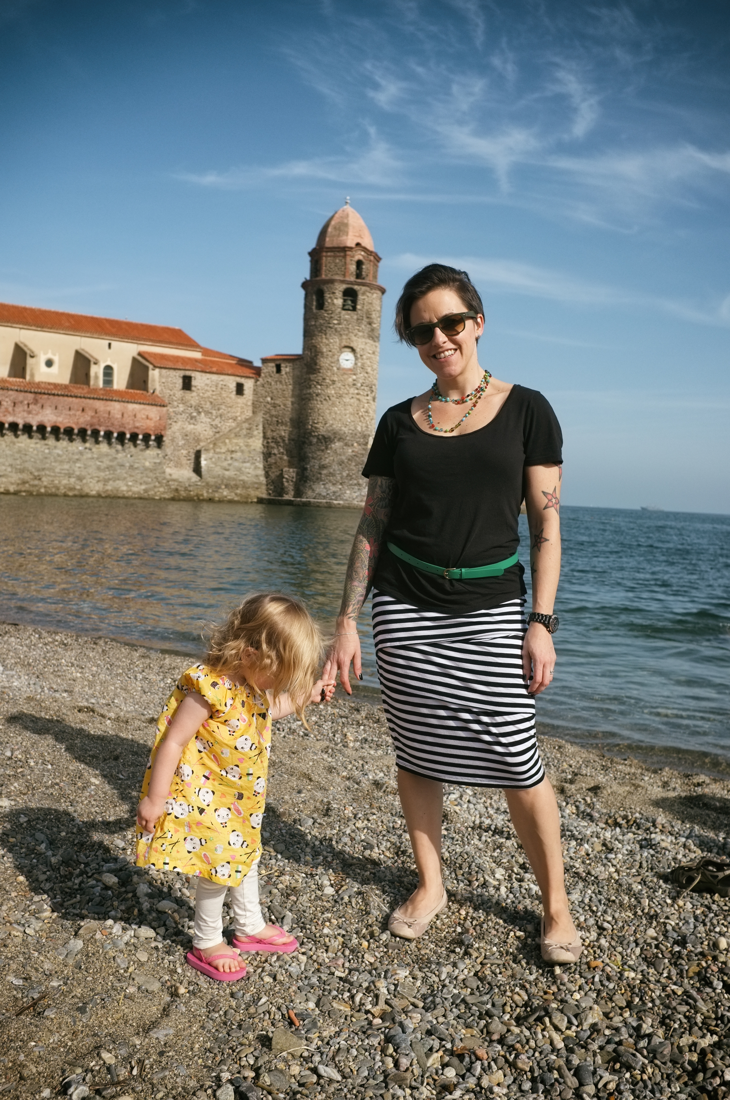 The ladies and the lookout. Collioure