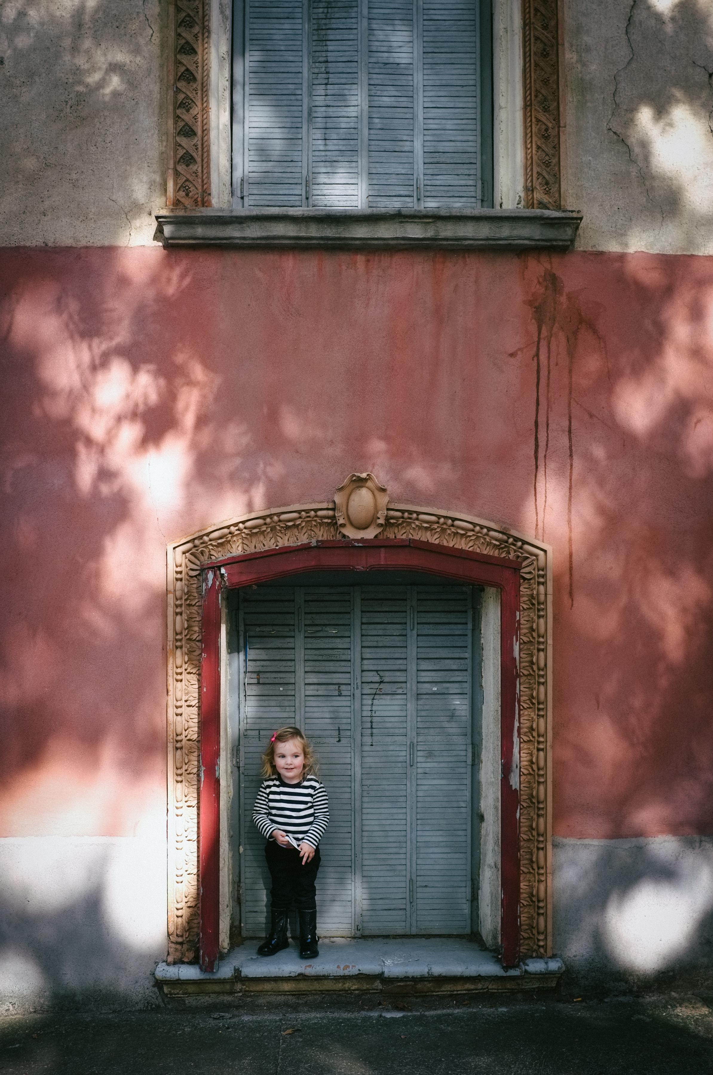 in the doorway. Saint Chinian