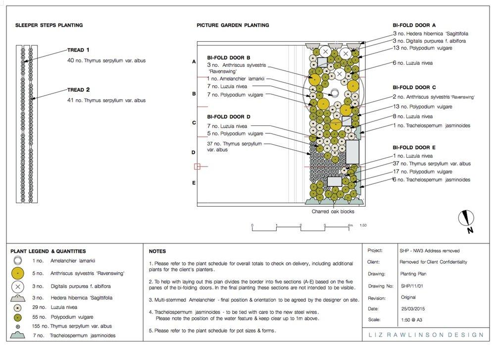 Planting Plans Liz Rawlinson Design