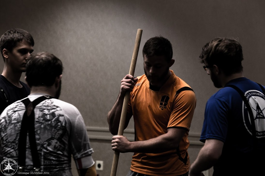 Rookie Training Tournament Coach Ties Kool instructs his team to act as judges. Each Rookie Team fights two rounds and staffs one, getting to experience longsword competition from both perspectives.