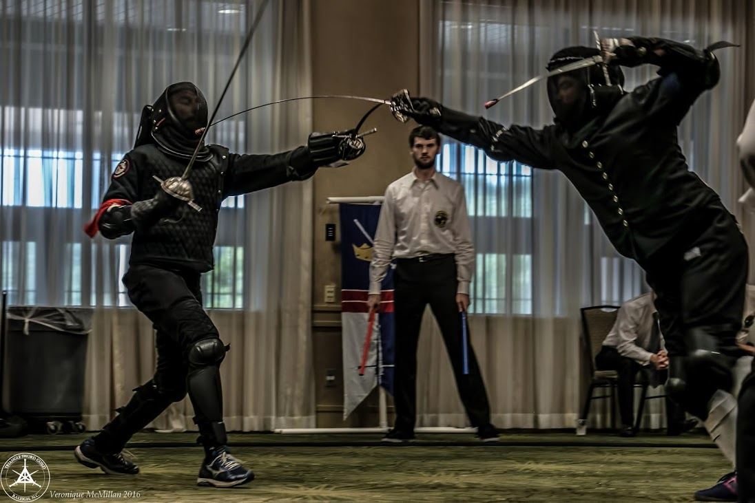 Maestro Francesco Loda and Tim Kaufman in the Rapier and Dagger finals. We saw a lot of Tim this weekend...