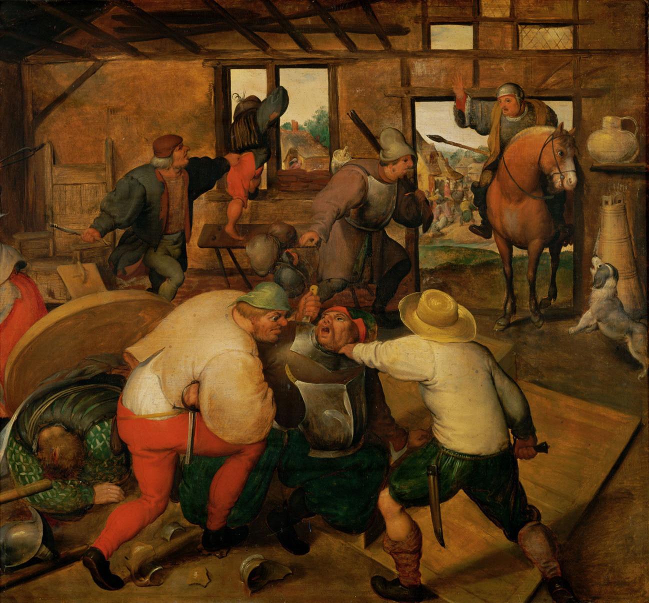 Marten_van_Cleve_(Circle_of)_-_Brawl_between_soldiers_and_peasants.jpg
