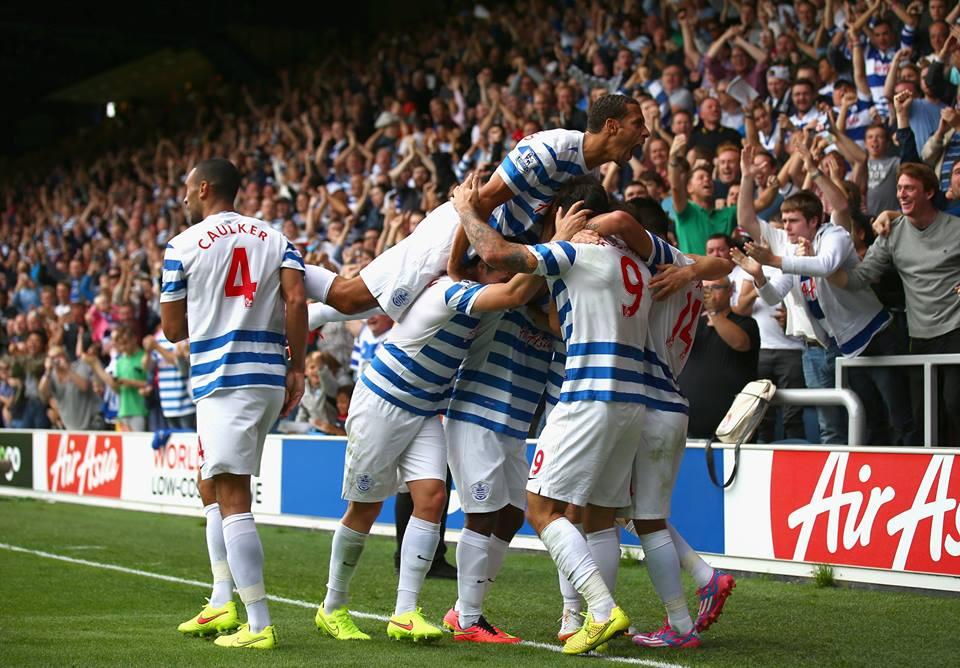 Loftus Road por fin celebró un gol esta temporada. Fotografía: Queens Park Rangers