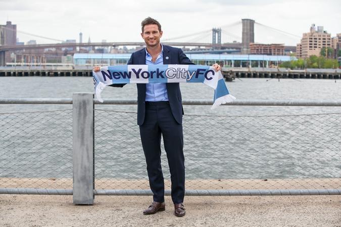 Frank Lampard, en su presentación como jugador de New York City. (Fotografía: MLS)