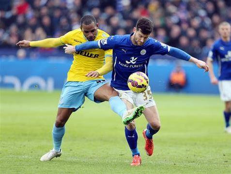 El empuje de Nugent no fue suficiente ante el Crystal Palace (Fotografía: Leicester City)
