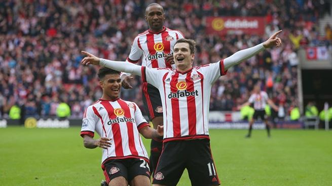 Adam Johnson, celebrando el 1-0 ante la afición del Stadium of Light | Fotografía: Sunderland AFC