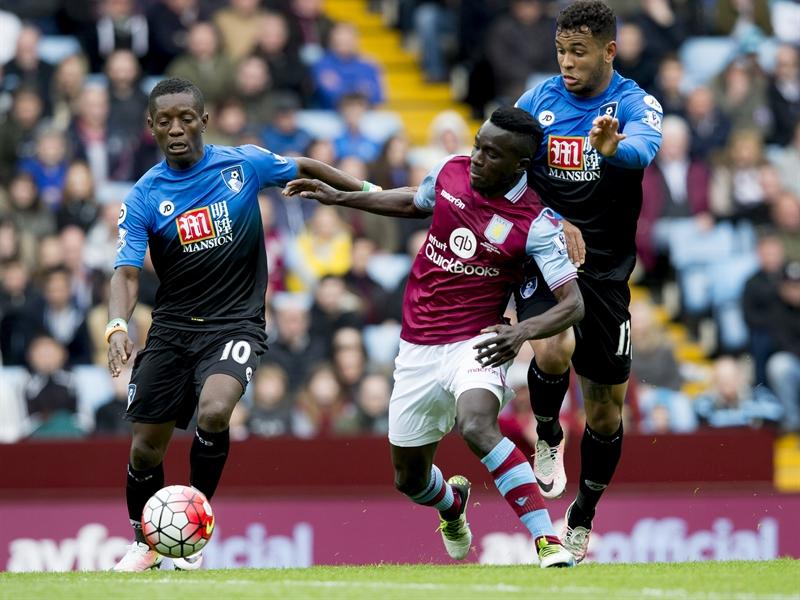 Idrissa Gana, durante el partido ante el Bournemouth | Fotografía: Aston Villa FC