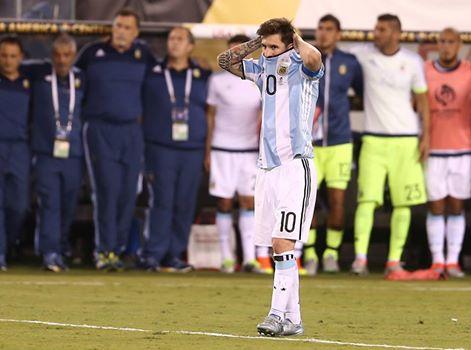 Leo Messi, en el MetLife | Fotografía: Facebook AFA