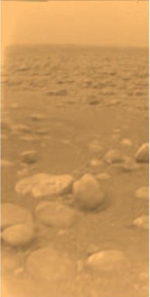 A Titan moonscape