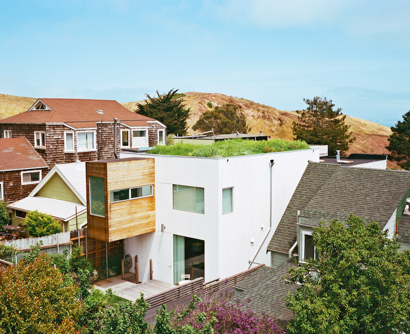 A green roof on San Francisco's Bernal Hill. Photo courtesy of   Ike Edeani  .  This photograph originally appeared in  Dwell .