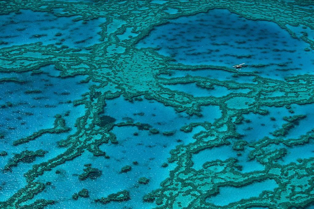 Barrier Reef, Queensland, Australia. Photograph: Yann Arthus Bertrand