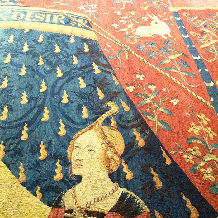 Tapestry at Cluny museum