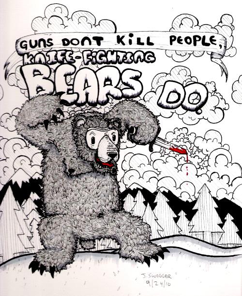 Knife-Fighting Bear