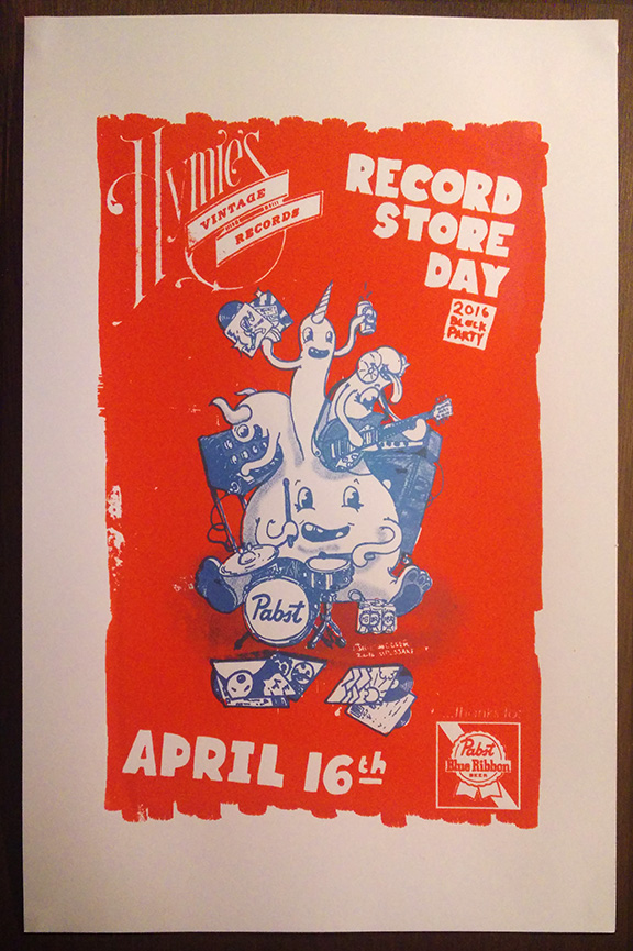 Hymie's Record Store Day 2016 poster