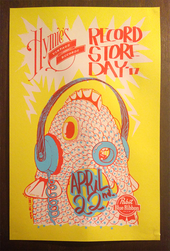 2017 Hymie's Record Store Day poster