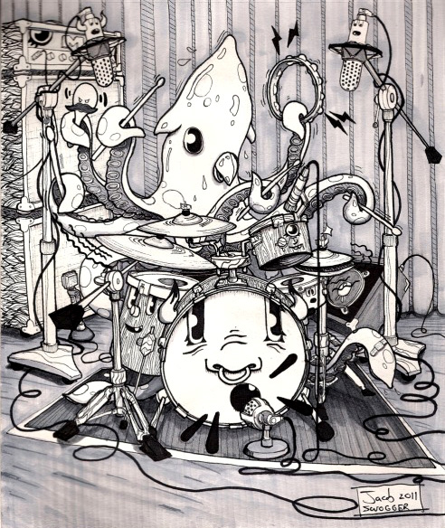 Squid Drummer