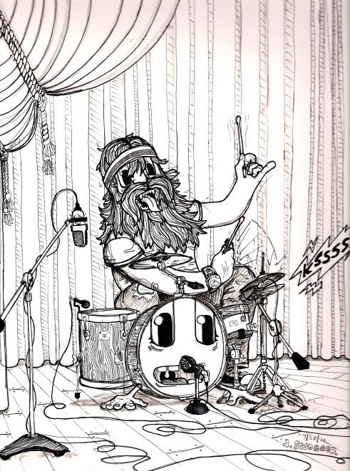 Hairy Drummer