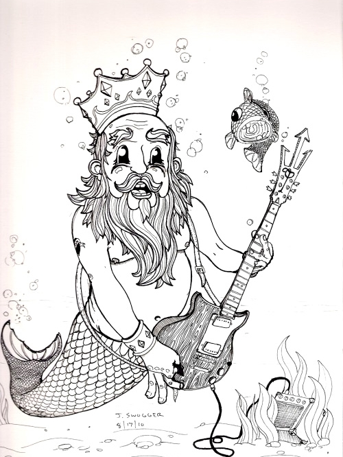 Poseidon Plays Guitar