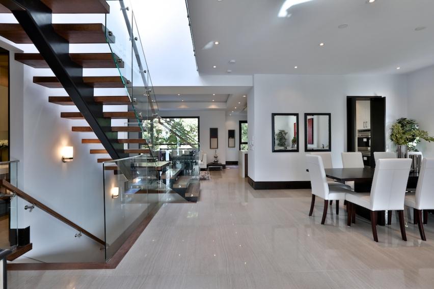 Modern Toronto Home Stairway & Dining Room