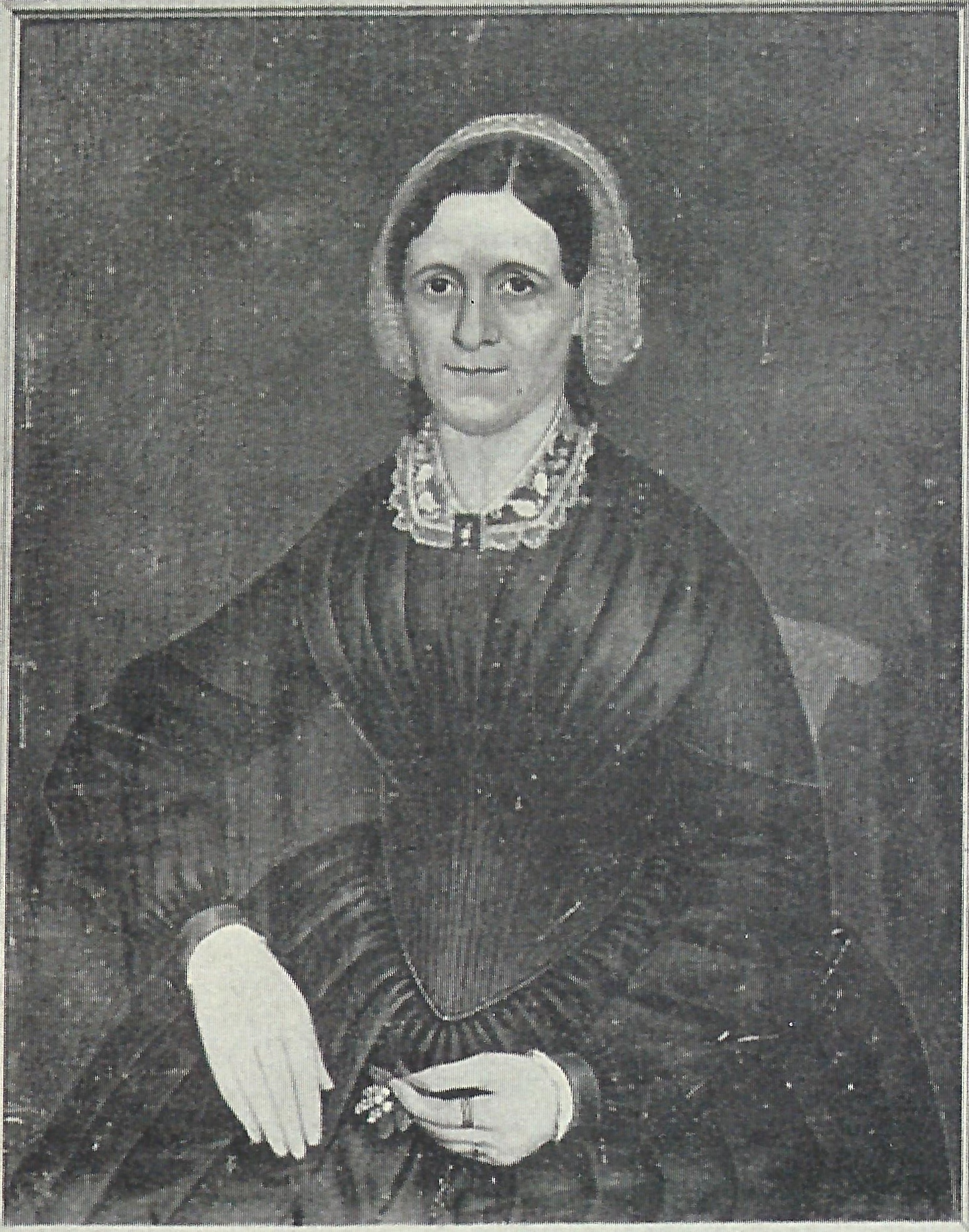 Portrait of Sophie de Marsac Campau, said to be by Charles H. Moore, c1852.  Chapter archives.