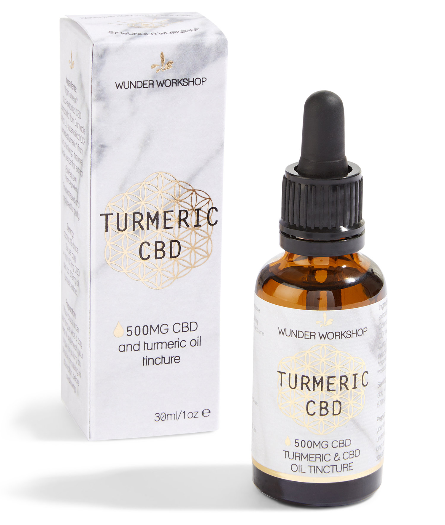 TURMERIC C B D OIL (500mg) — WUNDER WORKSHOP