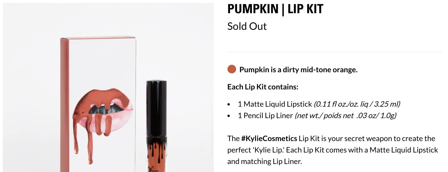 Pumpkin Lip Kit