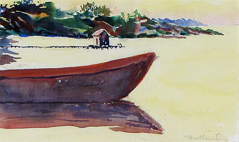 Canoe in the Bay