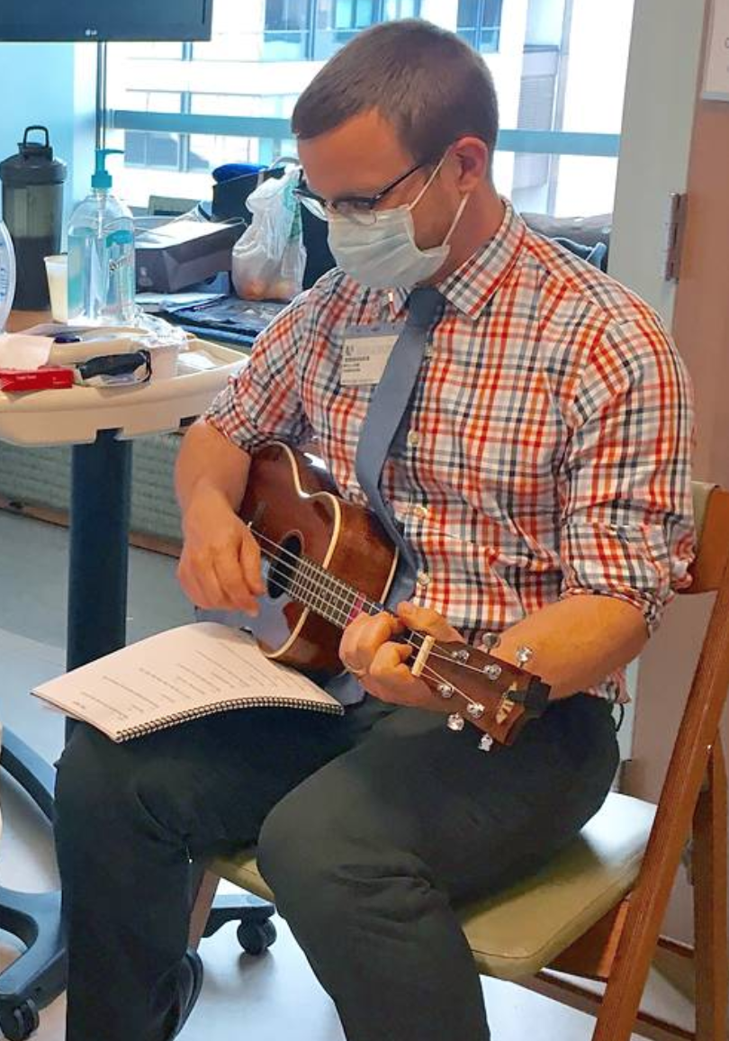 Click to read about performing music with patients bedside.