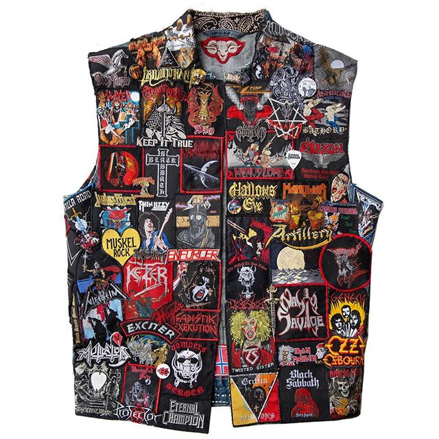 I finally finished the front! Speaking of vests, I have two more weeks to photograph for my book about heavy metal culture and the battle vest before we edit and publish it in 2019. If you're in or near the Pacific NW and want to be included, please get in touch!