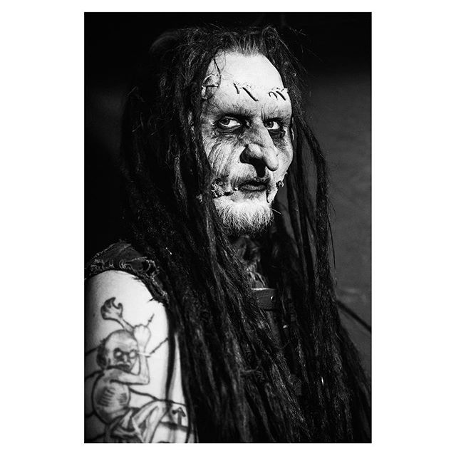Mortiis in his dressing room last night