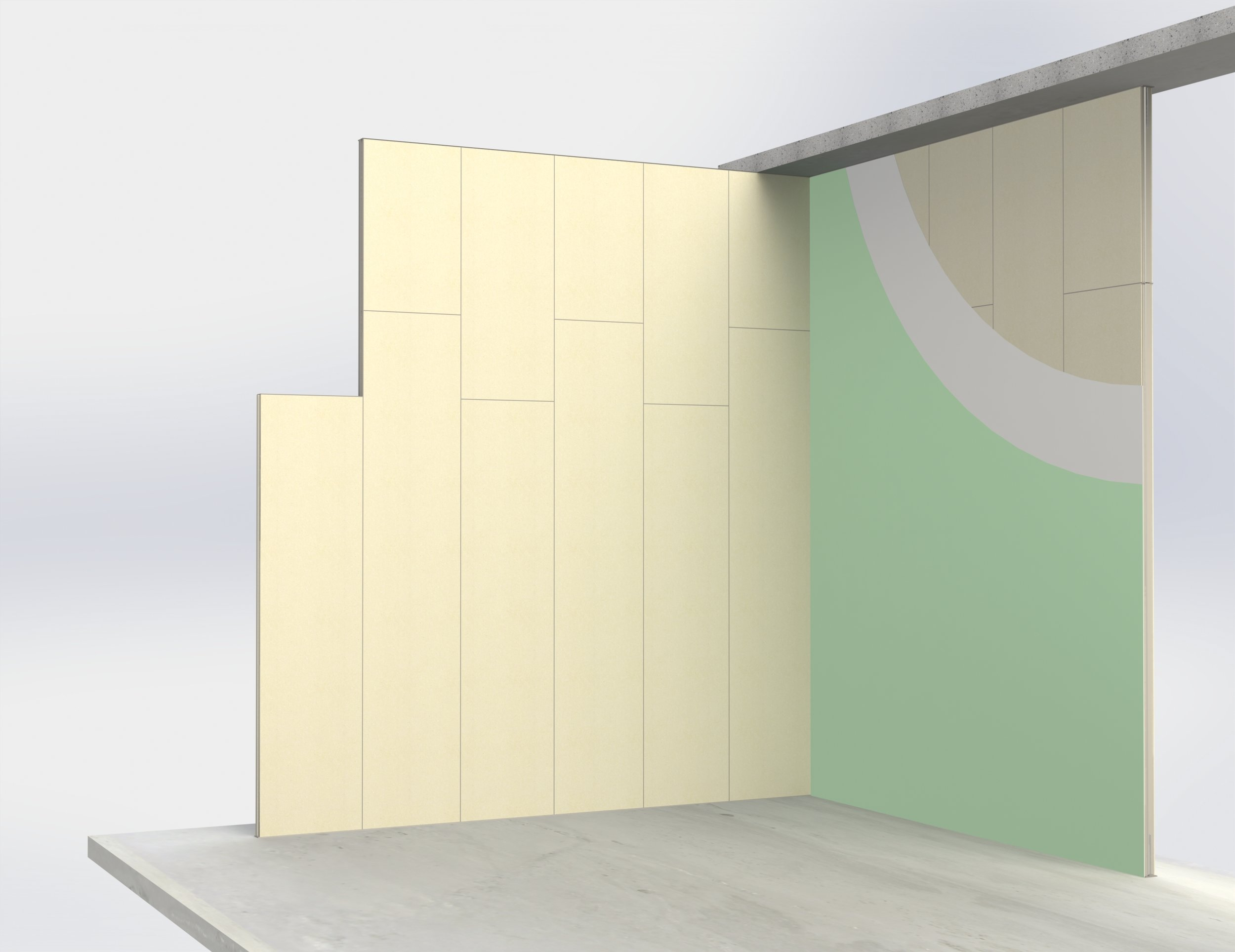Self-supporting walls (solid panel)