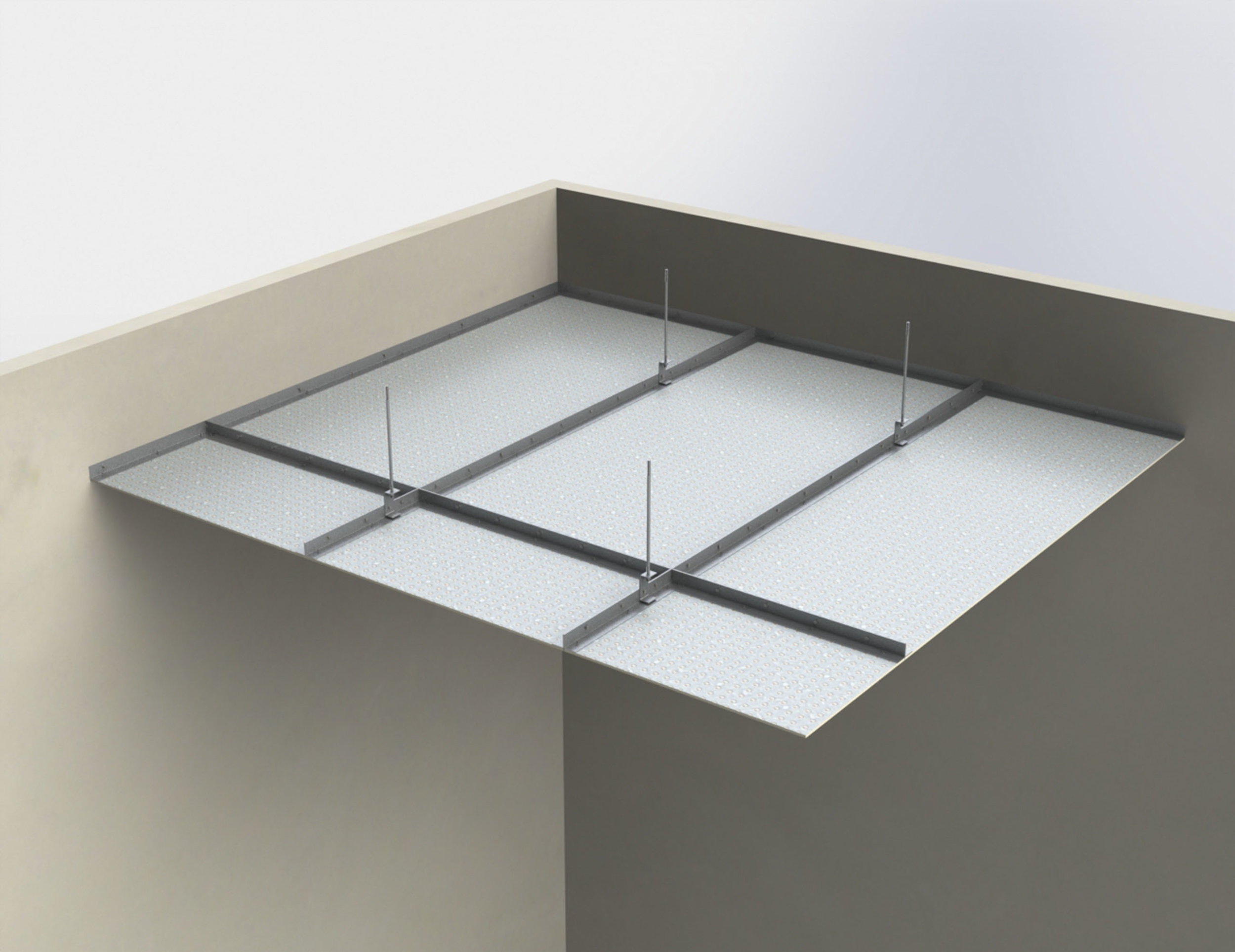 Suspended ceiling membranes (high impact resistanc   e)