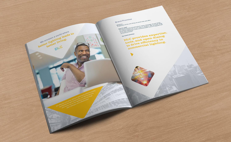 The Brand guide, interior spread.