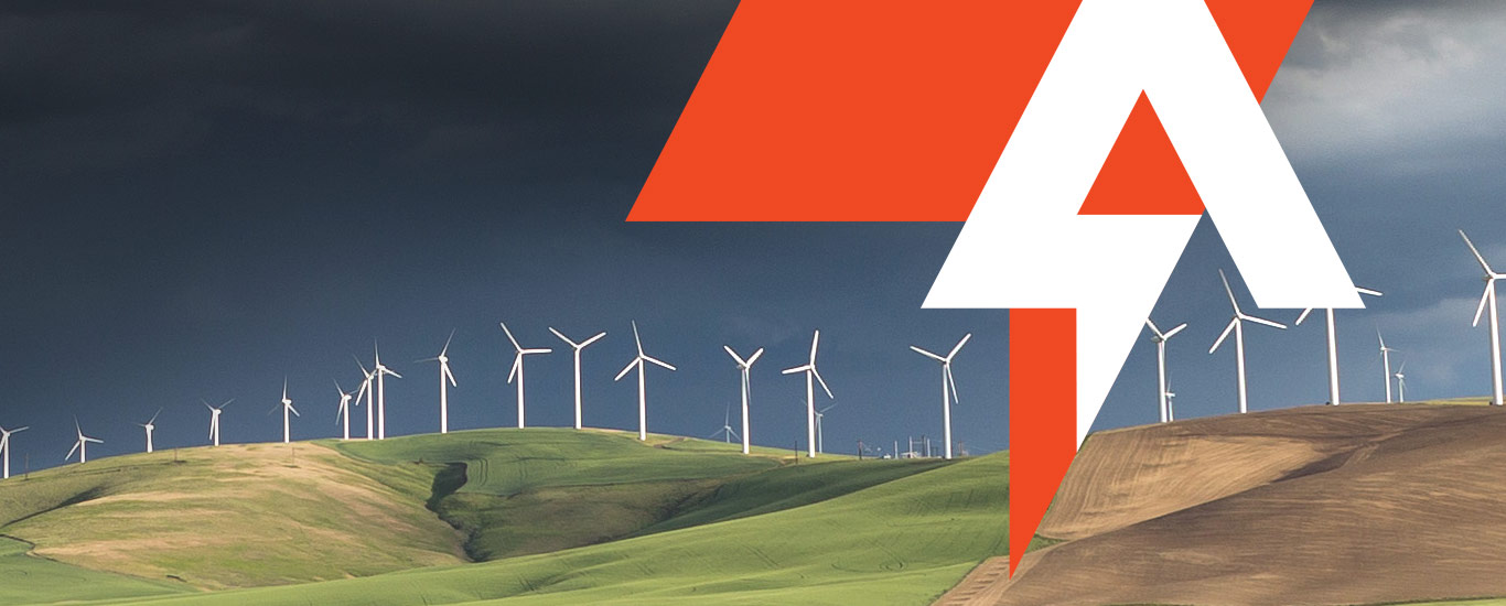 Ampion: A bold, confident identity for this renewable energy company.