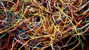 tangle of wires (image)