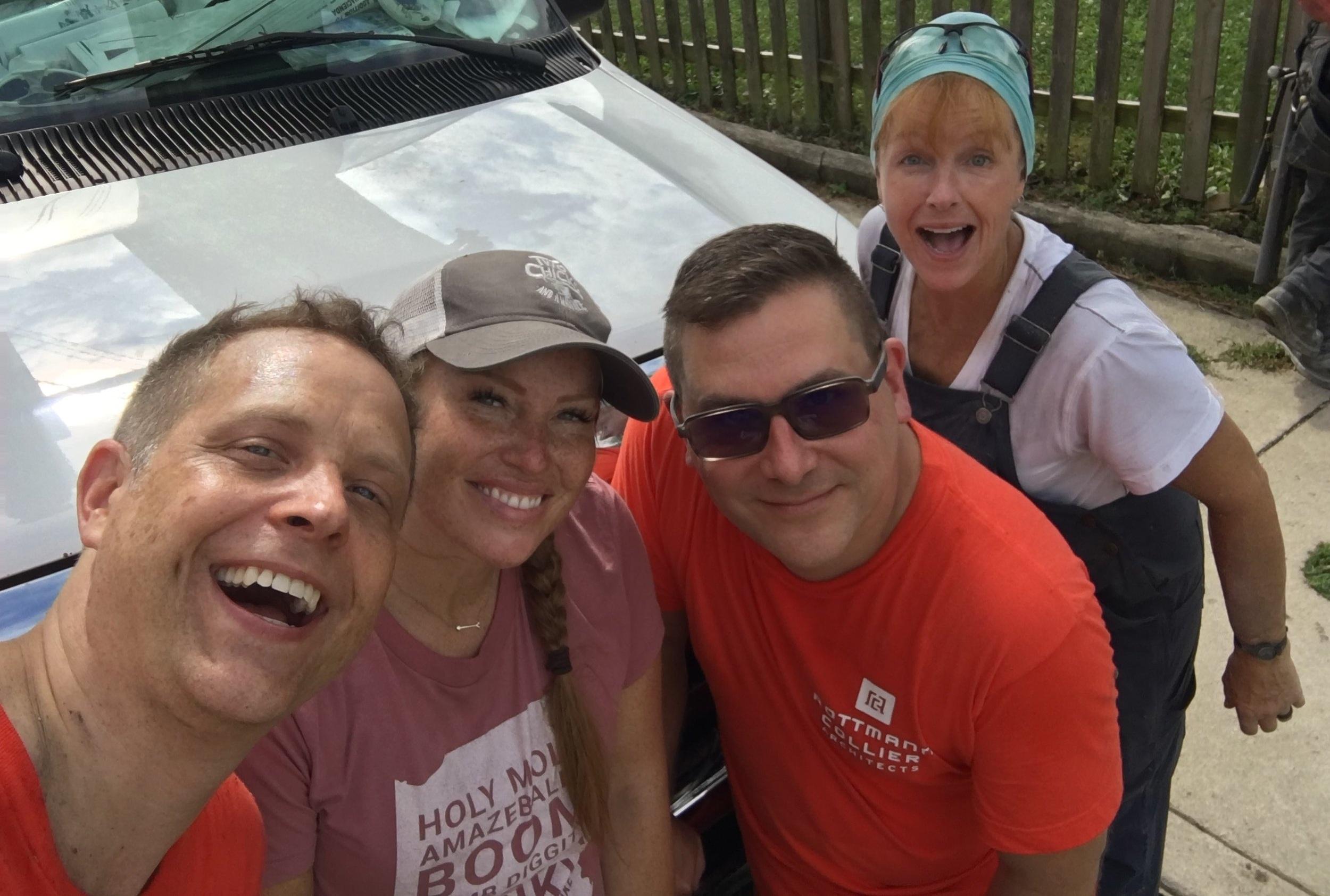 "Todd, Mina, Rod, and ""photobomber"" Karen"