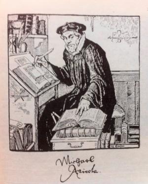 Albert Edelfelt: Mikael Agricola, piirros, 1907