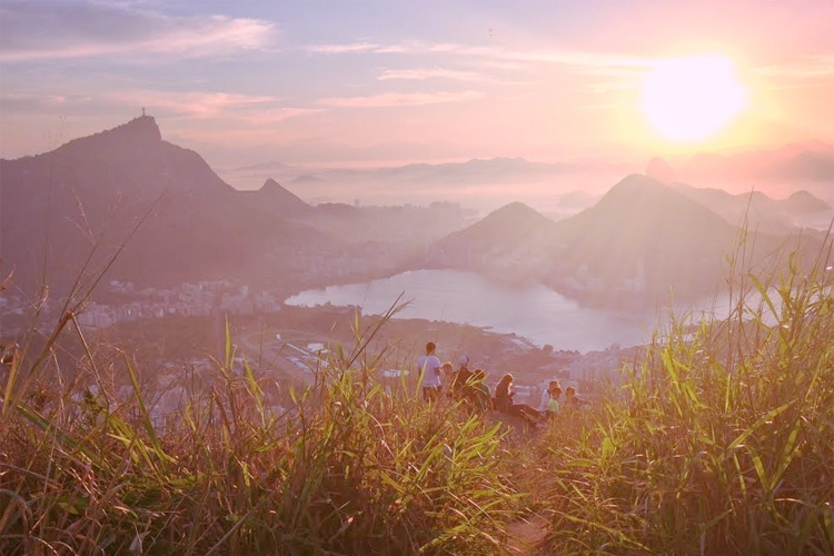 After a long hike through Vidigal to reach the sunrise at Dois Irmaos  overlooking Rio de Janeiro.