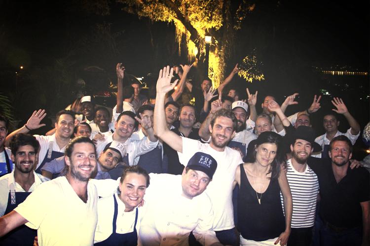 The Casa Fat Radish team celebrating Adam's birthday.