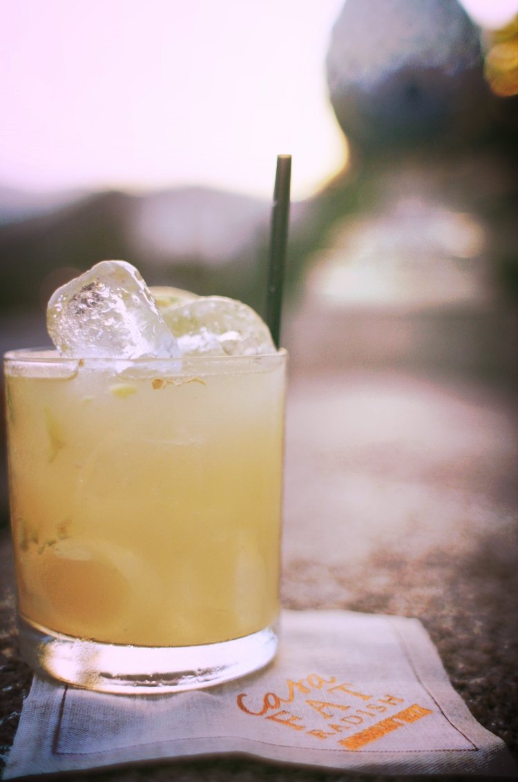 Classic cocktail on the terrace.