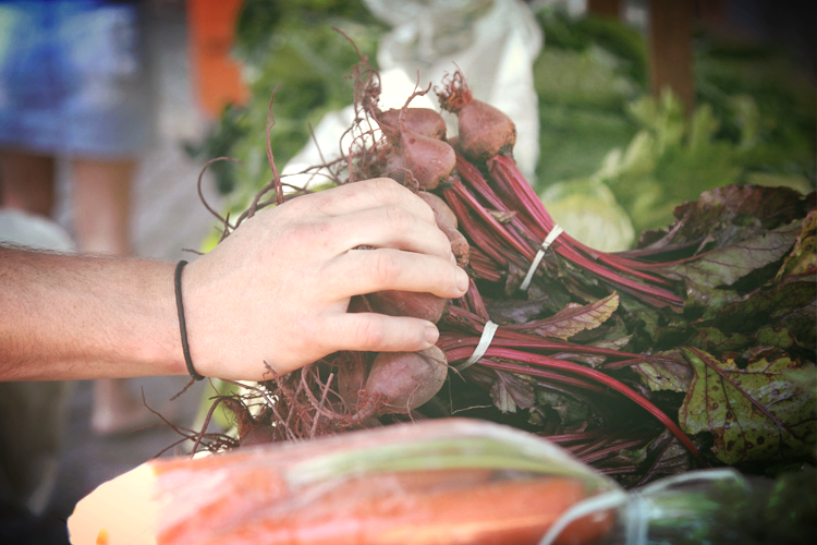 Local beetroots.