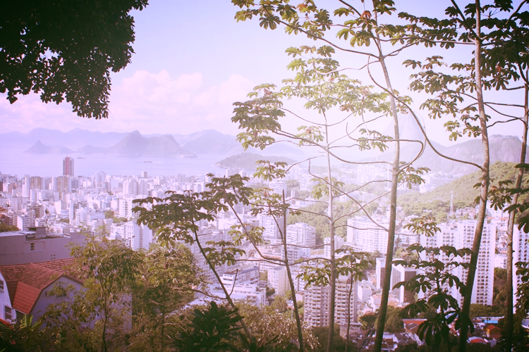 One of the amazing views from the house overlooking Sugarloaf, Botafogo & Guanabara Bay.